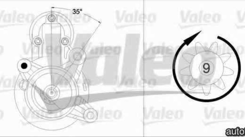 Electromotor FIAT SEICENTO (187) VALEO 458204