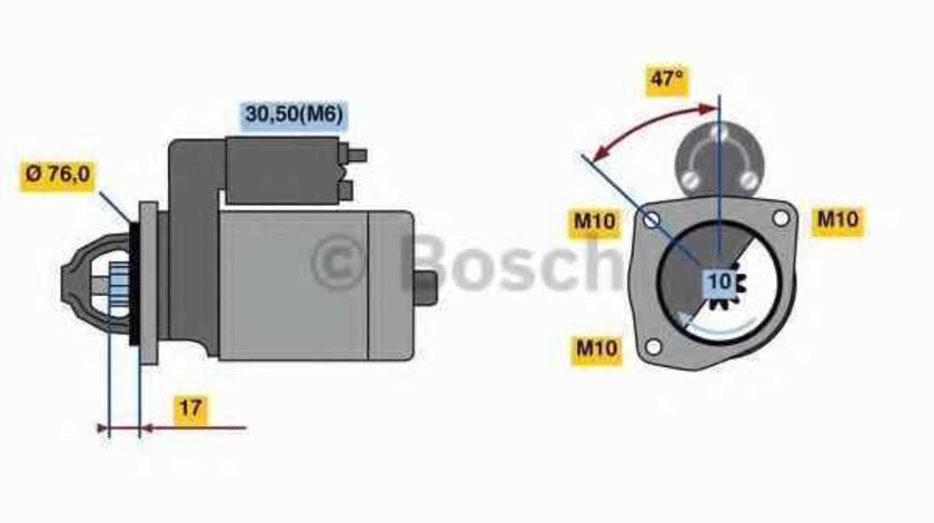 Electromotor FORD TRANSIT CONNECT P65 P70 P80 BOSCH 0 986 022 840