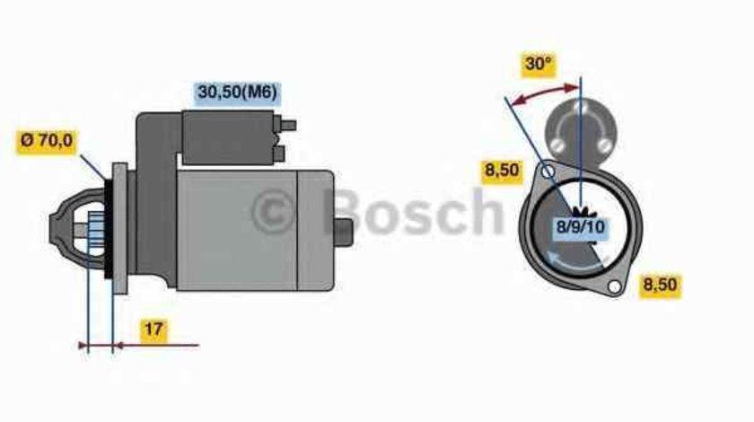 Electromotor MERCEDES-BENZ B-CLASS W245 BOSCH 0 986 018 570