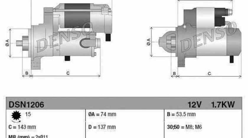 Electromotor MERCEDES-BENZ B-CLASS W246 W242 Producator DENSO DSN1206