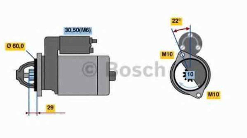 Electromotor MERCEDES-BENZ CLS Shooting Brake (X218) BOSCH 0 986 021 320