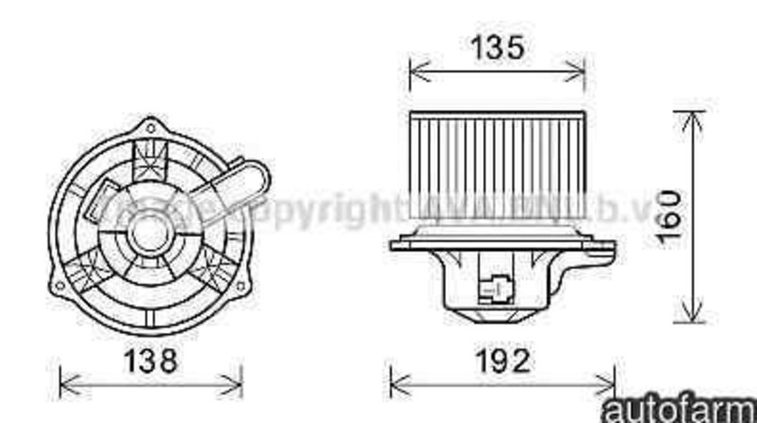 Electromotor, ventilatie interioara HYUNDAI i30 CW (FD) KIA U90113