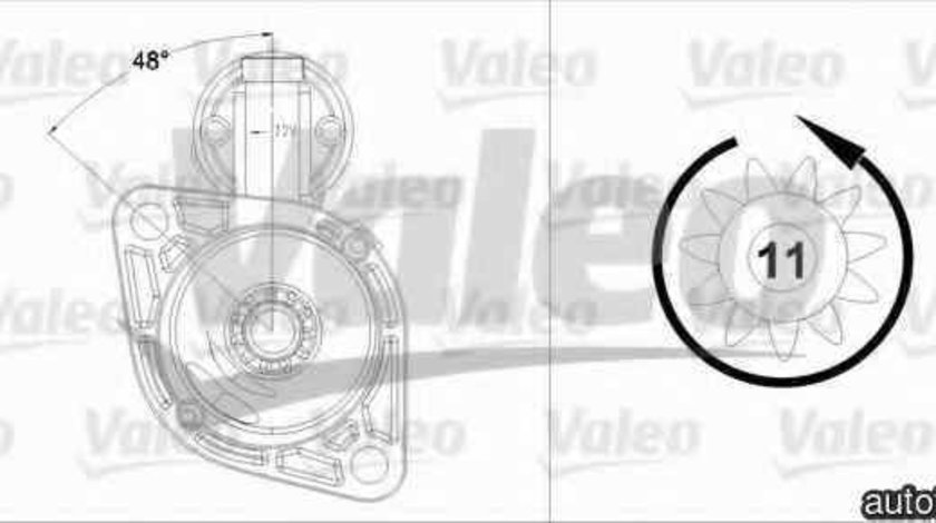 Electromotor VW BEETLE Cabriolet 5C7 VALEO 458218