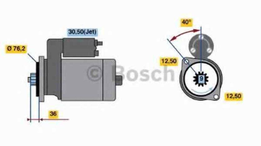 Electromotor VW GOLF IV 1J1 BOSCH 0 986 017 000