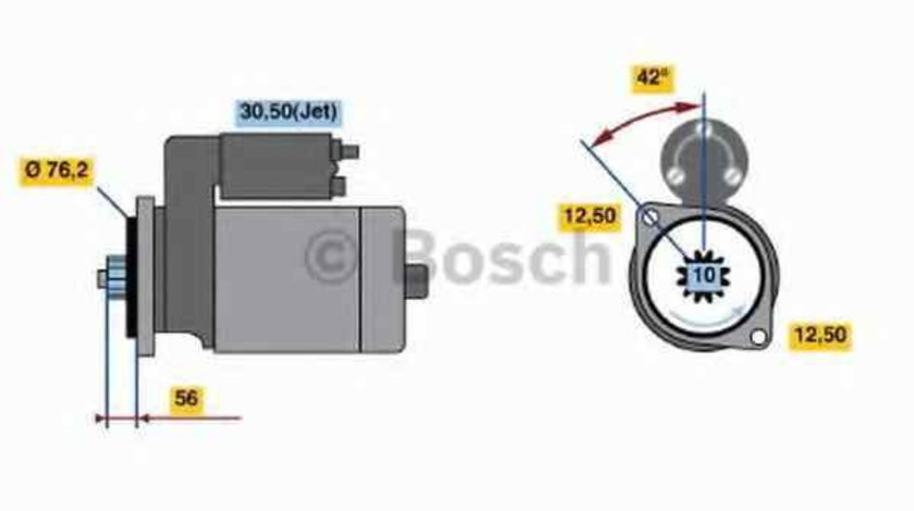Electromotor VW GOLF IV 1J1 BOSCH 0 986 018 040
