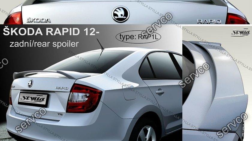 Eleron capota portbagaj spoiler tuning sport Skoda Rapid Mk1 Sedan HB Liftback 2012-2017 v2