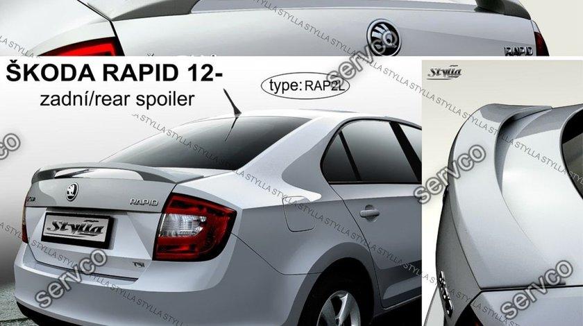 Eleron capota portbagaj spoiler tuning sport Skoda Rapid Mk1 Sedan HB Liftback 2012-2017 v1