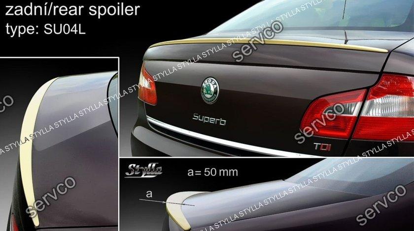 Eleron GTi portbagaj spoiler tuning sport Skoda Superb 2 Mk2 Limuzina Sedan 2008-2015 v3