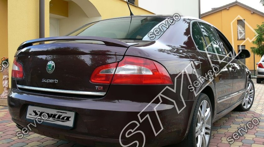 Eleron GTi Rs portbagaj spoiler tuning sport Skoda Superb 2 Mk2 Limuzina Sedan Limo 2008-2015 v2