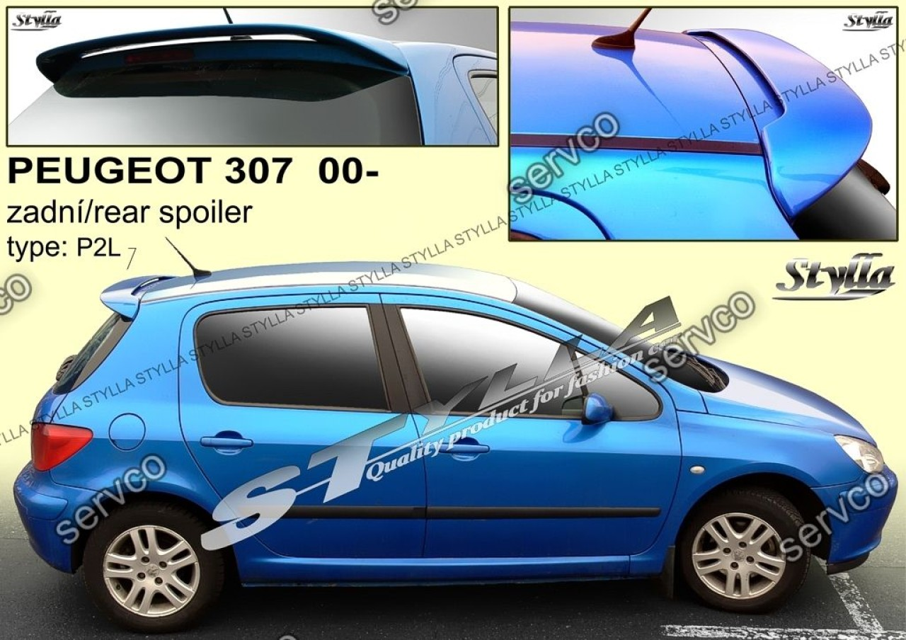 Eleron luneta haion tuning sport Peugeot 307 VTi Gti Wrc Rally 2001-2008 v1