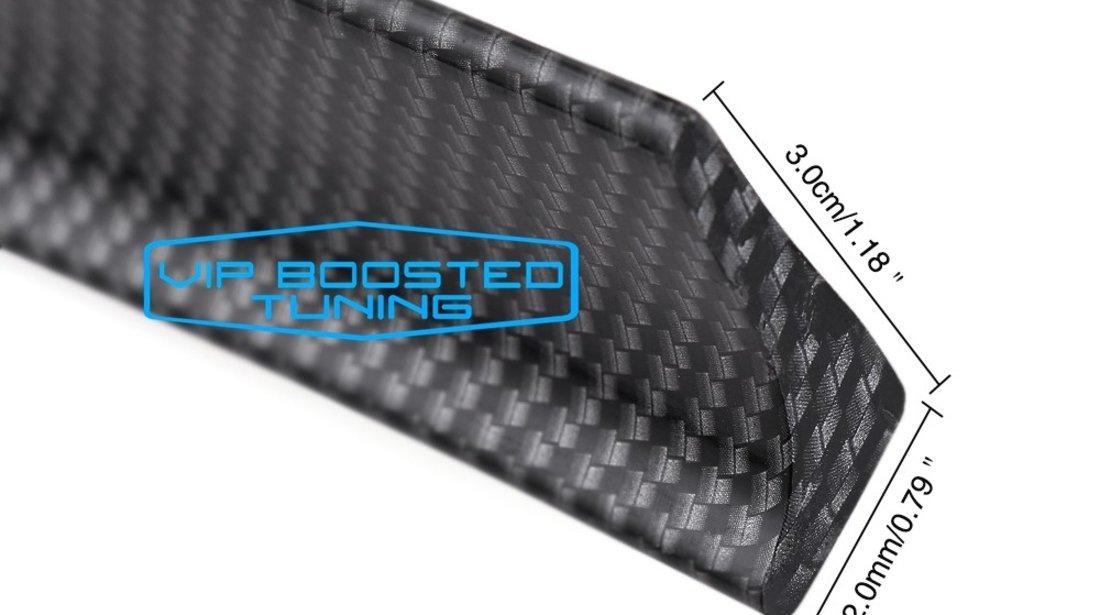 Eleron pentru portbagaj SLIM universal carbon