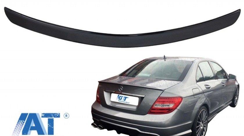 Eleron Portbagaj compatibil cu Mercedes C-Class W204 Limousine (2007-2014) Real Carbon A-Design
