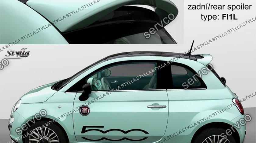 Eleron prelungire haion luneta spoiler tuning sport Fiat 500 Abarth 2007-2018 v2