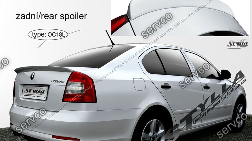 Eleron prelungire portbagaj tuning sport Skoda Octavia 2 RS Vrs Sedan Hatchback 2004-2013 v9