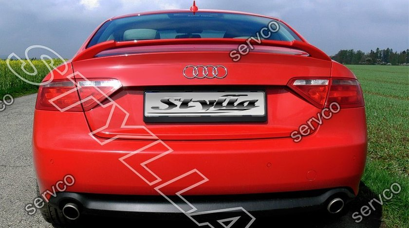 Eleron spoiler adaos portbagaj Audi A5 Coupe 8T 8T3 S5 Sline 2007-2012 v4