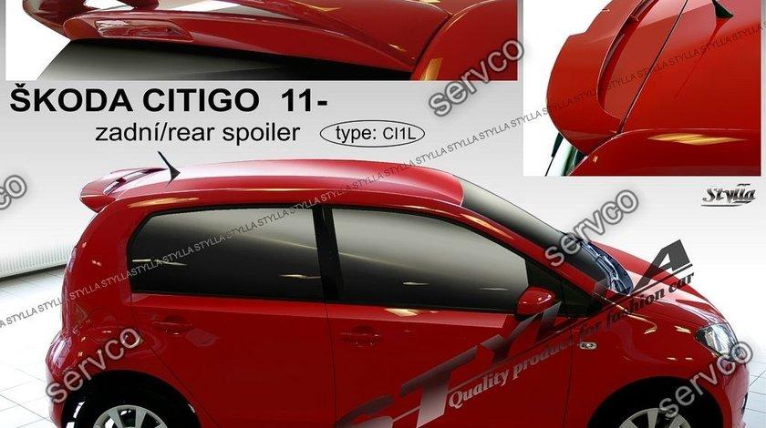 Eleron spoiler haion portbagaj tuning sport SKODA CITIGO VW UP SEAT MII 2011-2017 ver1