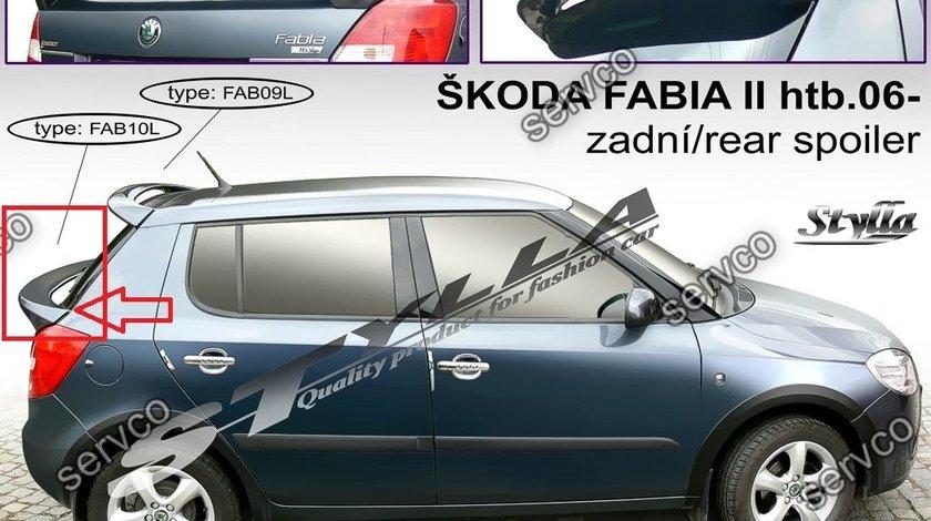 Eleron spoiler tuning sport haion portbagaj Skoda Fabia Hatchback HB VRS Rs 2007-2015 ver4