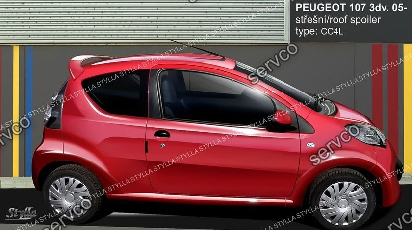 Eleron spoiler tuning sport Peugeot 107 Gti Vti Coupe 2005-2014 ver1