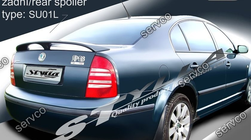 Eleron spoiler tuning sport portbagaj Skoda Superb Mk1 B5 3U 2001-2008 ver1