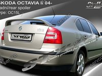 Eleron spoiler tuning sport Skoda Octavia 2 RS Vrs Sedan Hatchback 2004-2013 ver7