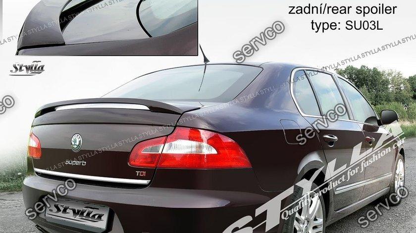 Eleron spoiler tuning sport Skoda Superb 2 Mk2 Limuzina Sedan Limo Rs GTi 2008-2015 ver2