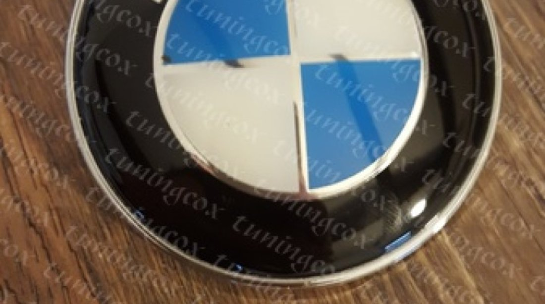 Emblema bmw negru cu alb capota sau portbagaj