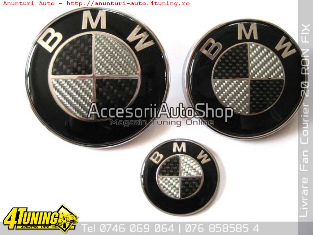 Emblema Capota Portbagaj BMW Carbon Real de la 39 RON