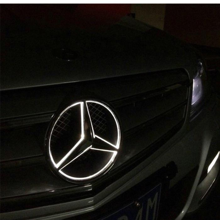 Emblema iluminata led Mercedes Benz grila 18.5cm sigla Glk C class