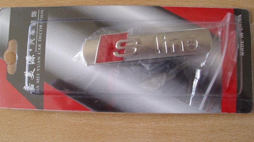Emblema S-line 7X1.5 cm mat pt portbagaj