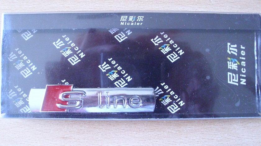 Emblema S-line lucios 7X1.5 cm pt portbagaj