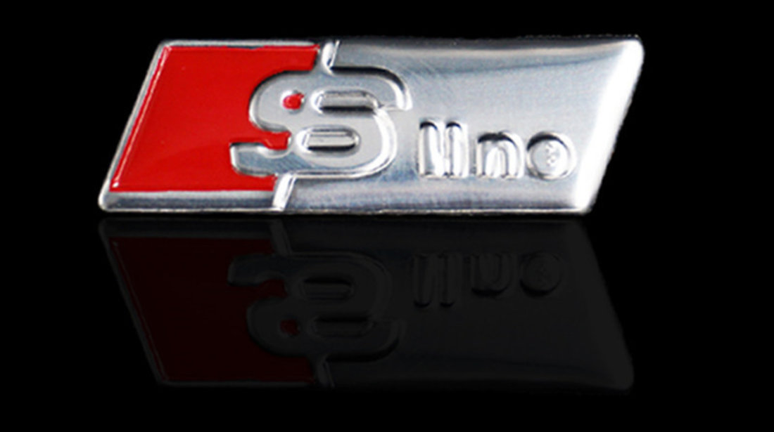 Emblema S-line volan metal Refit AUDI Q5 Q7 A1 A3 A4 A5 A6