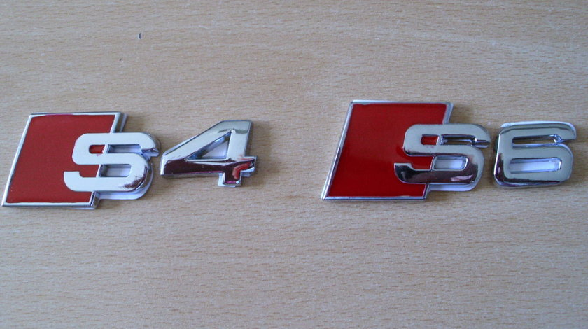 Emblema S4 sau S6 7X3 cm pt portbagaj