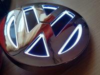 Emblema Volkswagen Led Lumina ALBA - Sigla 5D Vw - Logo iluminat
