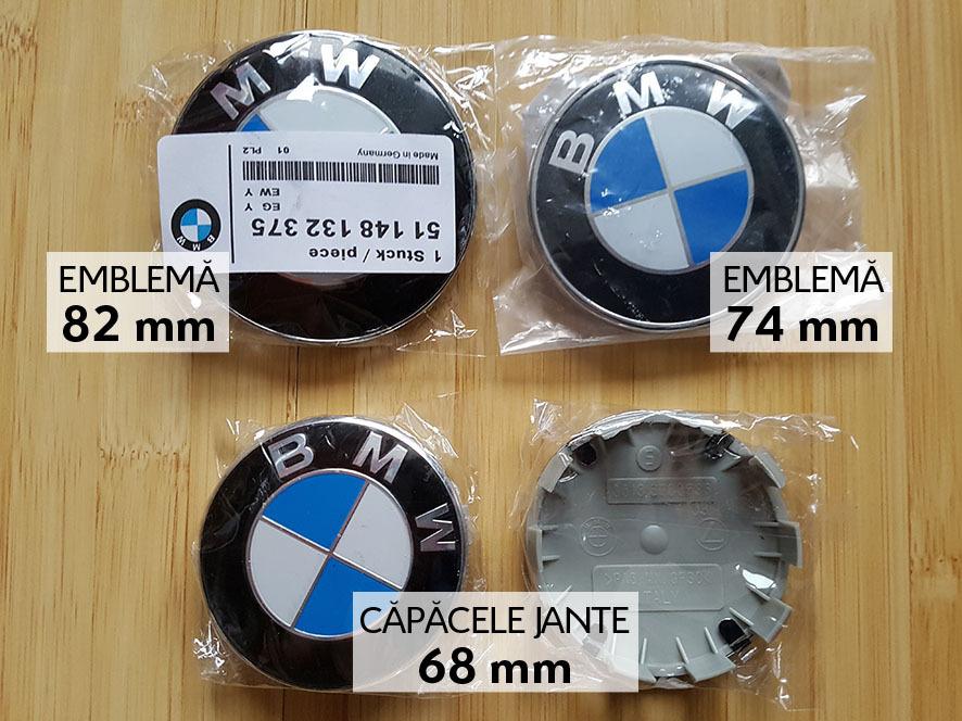 Embleme capota/portbagaj 82/74 mm si Capacele jante 68 mm 10 picioruse