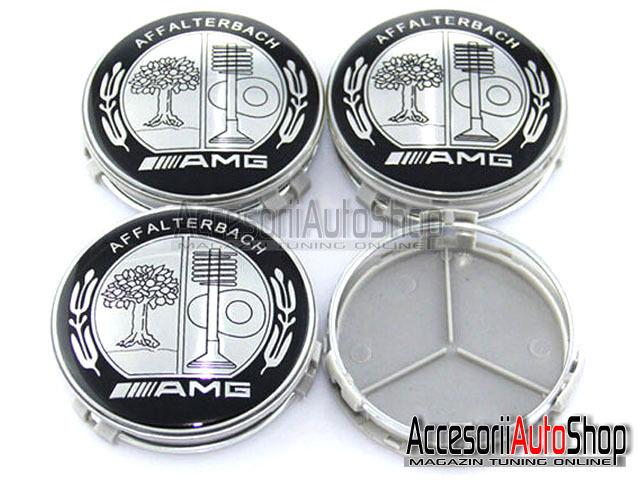 Embleme roti jante Capacele Mercede AMG DESIGN Black White