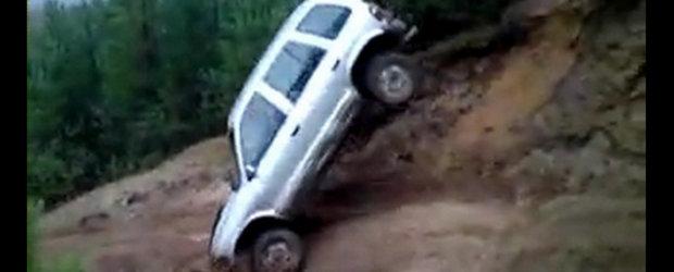 Epic Fail: Kia Sportage, panta abrupta si marea tumba