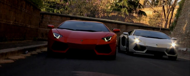 Epic Video: Doua Lamborghini Aventador pleaca in cucerirea fascinantei Rome