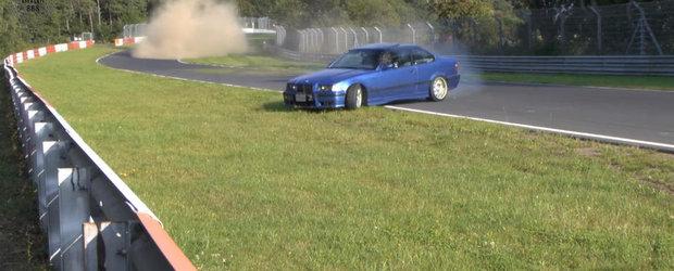 Era cat pe ce sa prapadeasca BMW-ul M3 E36 pe Nurburgring. Uite salvarea saptamanii reusita de un francez
