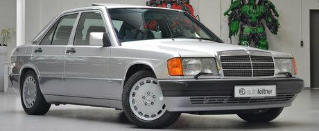 Este aproape nou, cu 66.000 de kilometri in bord. Cat costa acest superb Mercedes 190E cu motor de 2.6 litri