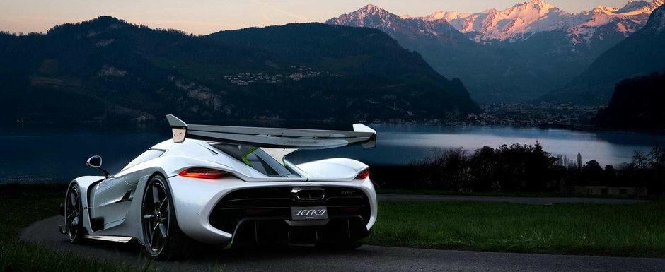 Este cea mai noua creatie Koenigsegg. Sedinta foto in Elvetia cu hypercar-ul capabil sa atinga 482 km/h