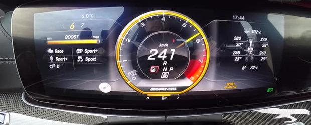 Este cel mai rapid BREAK pe care il poti cumpara. Cum arata un 0-250 cu incredibilul Mercedes E63 S