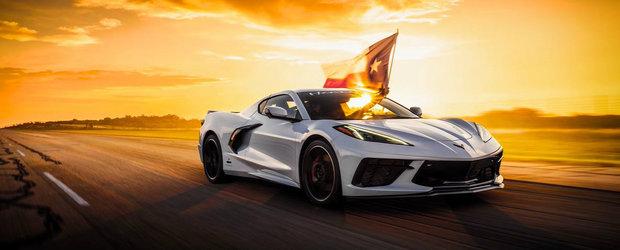 Este cel mai rapid Corvette de ultima generatie din cate exista. Viteza atinsa cu bolidul de 650 CP