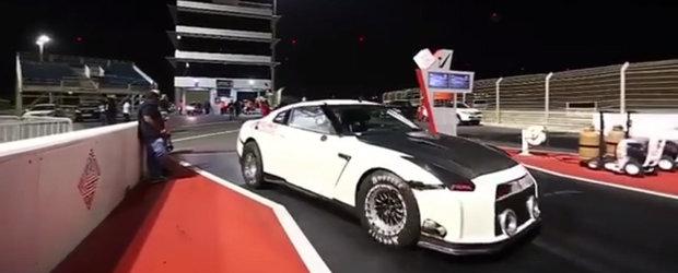 Este cel mai rapid GT-R de pe Pamant! Are 3.000 de cai si a facut sfertul de mila in 6.85 secunde