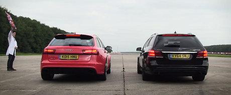 Este cursa celor mai rapide break-uri ale planetei. Duel de foc intre Audi RS6 si Mercedes E63
