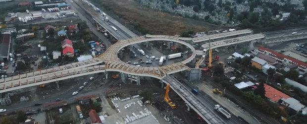 Este inceputul unei noi ere. Cum arata giratoriul suspendat de la Domnesti, lucrarea de infrastructura care te face sa te simti ca in Dubai sau SUA