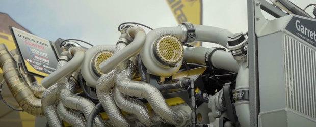 Este o minune a tehnicii. Asa arata un motor V12 de 9.7 litri cu patru turbine