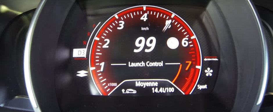 Este primul sau test de acceleratie. Uite cat de rapid ajunge noul MEGANE RS la 100 de km/h