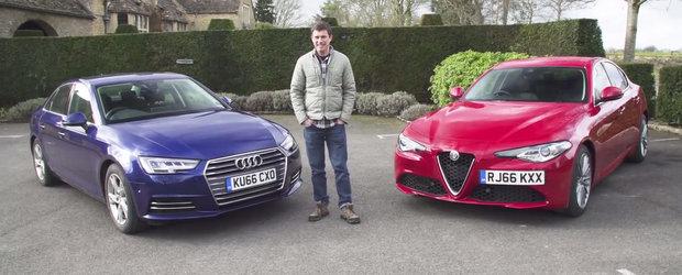 Este randul versiunii standard sa straluceasca. Noua Alfa Giulia incearca sa bata ultimul Audi A4