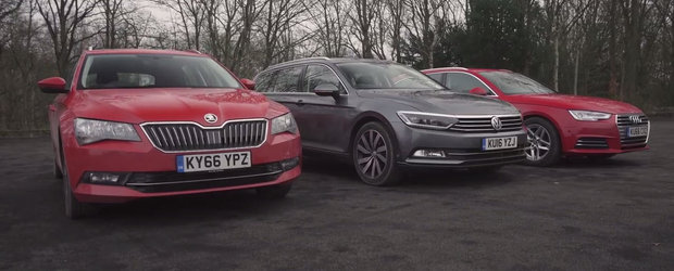 Este razboi total in curtea Volkswagen. Trei dintre masinile grupului german lupta pentru suprematie. VIDEO