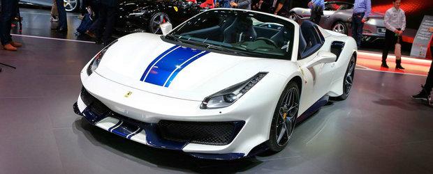 Este una dintre vedetele Salonului. Cea mai puternica decapotabila din istoria Ferrari face suta in 2.85 secunde